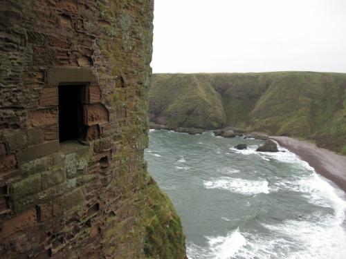 Dunnottar Castle Overlooking the Sea